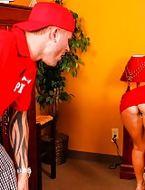 Monique Alexander tips the pizzaboy with her tight pussy